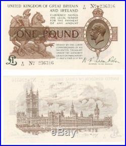 One Pound Treasury Note Prefix Z (1919) Fisher BYB ref TR17c EF