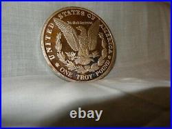 One Troy Pound 1878 999 Fine Silver Coin Morgan Dollar Design American Eagle