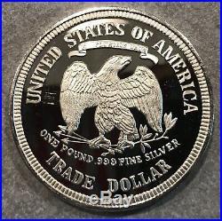 One Troy Pound Oversized 999 Fine Silver Seated Liberty Design Round 12 tr oz