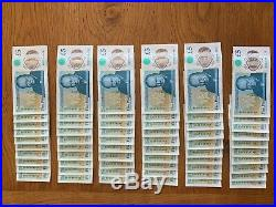 One of Every (600) A Series/Prefix English £5 Five Pound Note Released To Date