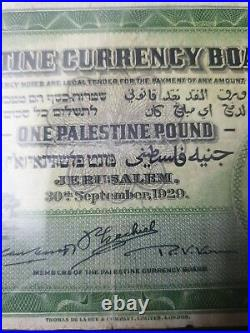 One pounds palestine currency- 1 pounds 1929