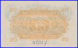 P35 East Africa Twenty Shilling Or One Pound 1955 Banknote Near Mint Condition