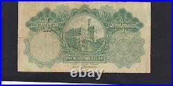PALESTINE 1 POUND DATED 1929 P. 7b PREFIX H IN FINE CONDITION