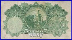 Palestine 1 Pound, 1929 P-7b, VF Very Fine, // NtE