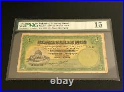 Palestine Currency Board 1939 One 1 Pound P-7c PMG 15