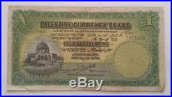Palestine Currency Board One Pound note, 20th April, 1939