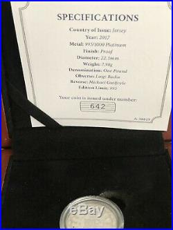 Platinum Proof One Pound Coin- Double Portrait 70th Wedding Anniversary Invest