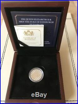 Platinum Wedding Proof One Pound Coin