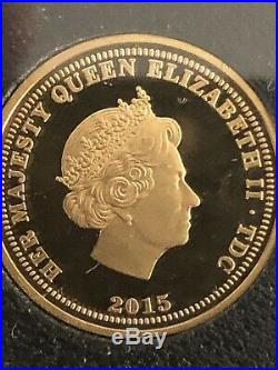 Proof Gold £1 One Pound Coin Boxed Certificate Authenticity 995 Minted VE DAY