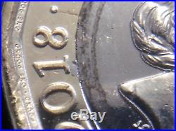 Q2. Royal Mint Nickel Flake Shard Error New One Pound Coin. Unc