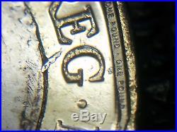 Q3.2018 Die Shard Error & Planchet Flaw Error New £1 One Pound Coin Unc
