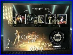 Queen One Pound Silver Proof Coin Cover Limited Edition 635 of 750