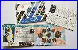 RARE ISLE OF MAN IOM SET 1 2 5 POUNDS 50 PENCE 1998 50p TT RACING SPORT COINAGE