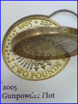 RARE Two Pound Coins Album 1997-2017. 2 COINS MISSING 2017. See Full Details 1st
