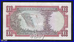RHODESIA P-28. 1967 One Pound. QE. 11 Portrait. EF