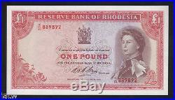 RHODESIA P-28. 1968 One Pound. QE. 11 Portrait. UNC