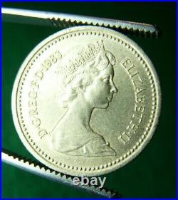 Rara Fior DI Conio 1983 One Pound Royal Arms Decus Et Tutamen Sottosopra