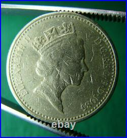 Rara Moneta 1985 One Pound Galles Porro Pleidiol Wyf I'm Gwlad Sottosopra