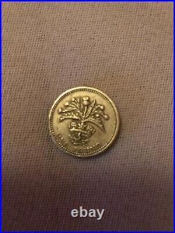 Rare 1 pound coin 1984