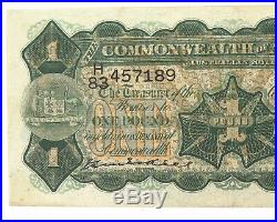 Rare 1927 R25 Kell / Heathershaw One Pound Note. Getting Harder To Get
