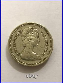 Rare 1983 Royal Arms One Pound Coin DECUS ET TUTAMEN Upside Down Coin C1