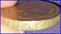 Rare 1983 Royal Arms One Pound Coin Error Decus Et Tutamen Upside Down! Wow