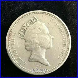 Rare 1985 Royal Arms One Pound Coin Error Decus Et Tutamen Upside Down