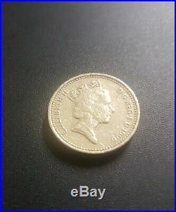 Rare 1996 Celtic Cross £1 One Pound Coin Mint Error Upside Down Decus Et Tutamen
