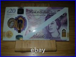 Rare £20 20 Pound Note Error Misprint Uncirculated Brand New. Line Through Head