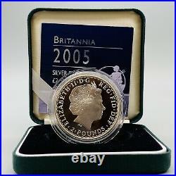 Rare 2005 Royal Mint Silver Proof Britannia £2 Two Pound 1oz Coin Boxed With COA