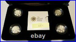 Rare 2010 2011 Silver Proof £1 One Pound Piedfort Capital Cities + COAs (25.5)