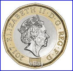 Rare 2017 one pound DP coins Elizabeth 2 D. G. REG. F. D