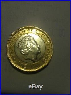 Rare 2017 one pound coins Elizabeth 2 D. G. REG. F. D
