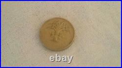 Rare British One Pound Coin 1985 With Errors, Upside Down I M Gwlad Pleidiol Wye