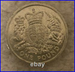 Rare Collectable 2015 One Pound Coin The Royal Arms Unicorn And Crowned Lion £1
