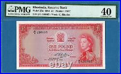 Rhodesia, 1 Pound, 1964, EF-PMG40, P25a