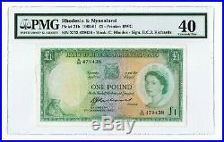 Rhodesia & Nyasaland, One Pound 7-12-1960 P-21b, EF 40