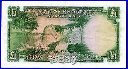 Rhodesia & Nyasaland. One Pound, X/37 463575. 12-2-1960, Fine