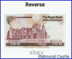 Royal Bank Of Scotland One Hundred Pound Note £100 A/2 144058