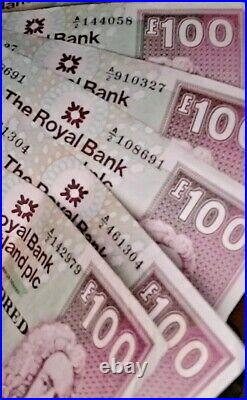 Royal Bank Of Scotland One Hundred Pound Note £100 A/2 910327