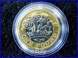 Royal Mint 12 Kant Münze 1 Pfund One Pound 2016 Elizabeth II. In Kapsel