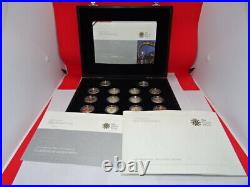 Royal Mint 2008 UK £1 Silver Proof 25th Anniversary One Pound Coin Collection