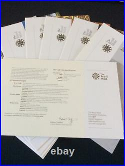 Royal Mint 25th Anniversary Gold and Silver Proof One Pound £1 Collection & COA