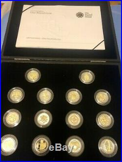 Royal Mint 25th Anniversary Gold and Silver Proof One Pound £1 Collection FREE