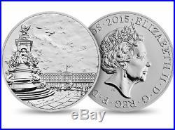 Royal Mint Buckingham Palace 2015 UK £100 (One Hundred Pounds) Fine Silver Coin