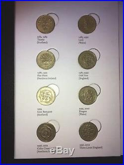 Royal Mint UK £1 One Pound Coin Hunt Collection Album with all 25 Coins