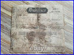 Scotland Dumfries 1 Guinea 1805 one Pound / shilling banknote