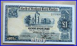 Scotland North Of Scotland Limited One Pound P644 1945 Unc