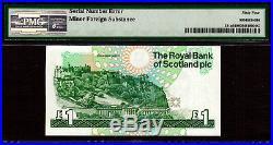 Scotland One Pound 1988 MASSIVE DOUBLE SERIAL ERROR Pick-351a Choice UNC PMG 64