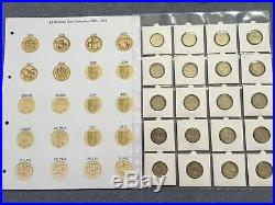 Set Of 42 Old Round £1 One Pound Coin Collection1983to2016 Every Circulated Coin